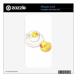 Patos en una taza calcomanía para iPhone 4S