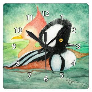 Patos encapuchados de Mersanger Reloj De Pared
