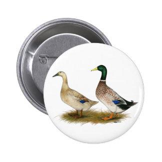 Patos:  Harlequin de plata Galés Pin Redondo 5 Cm