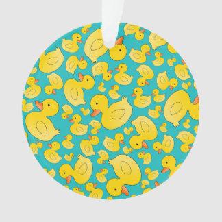 Patos lindos del caucho de la turquesa