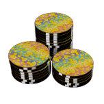 Patos lindos del caucho del arco iris juego de fichas de póquer