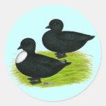 Patos:  Llamadas del negro Pegatina Redonda