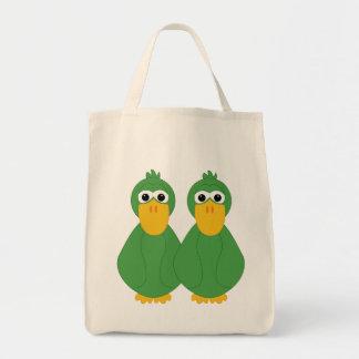 Patos verdes torpes bolsas