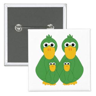 Patos verdes torpes y 2 bebés pins