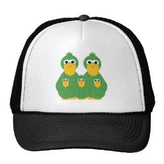 Patos verdes torpes y 3 gorro de camionero