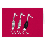 Patos vestidos tarjetas