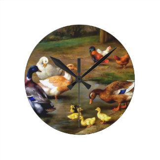 Patos y anadones relojes de pared