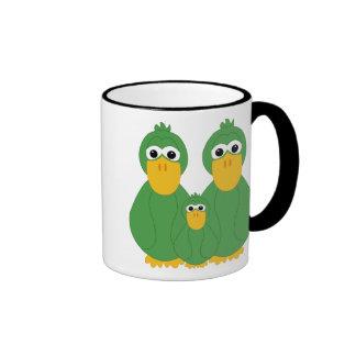 Patos y bebé verdes torpes tazas de café