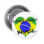 Pátria Amada Brasil Pin Redondo De 2 Pulgadas