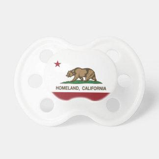 Patria de la bandera de la república de California Chupetes Para Bebés