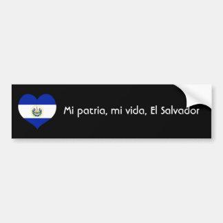 Patria del MI, vida del MI, El Salvador Pegatina Para Auto