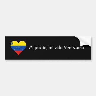 Patria del MI, vida Venezuela del MI Pegatina Para Auto