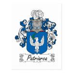 Patriarca Family Crest Postcard