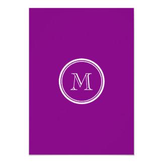 Patriarch Purple High End Colored 5x7 Paper Invitation Card