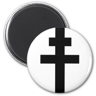 Patriarchal Cross 2 Inch Round Magnet