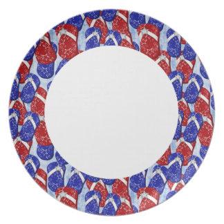 Patriatic FlipFlop Plate