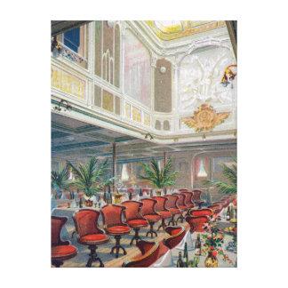 Patricia Dining Hall, Hamburg-America Line Canvas Print