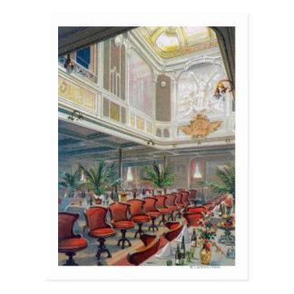 Patricia Dining Hall, Hamburg-America Line Postcard