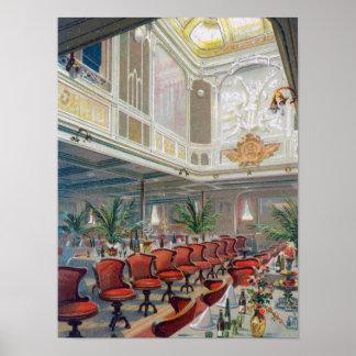 Patricia Dining Hall, Hamburg-America Line Poster