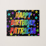 "[ Thumbnail: ""Patricia"" First Name, Fun ""Happy Birthday"" Jigsaw Puzzle ]"