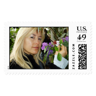 Patricia in the garden postage stamps
