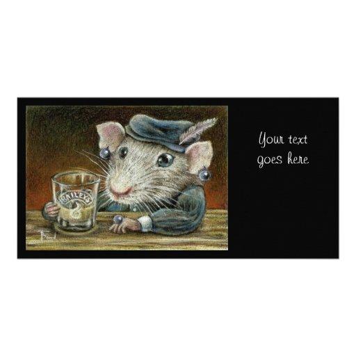 Patricia la rata tarjetas personales con fotos