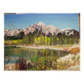 Patricia Lake Painting Postcard