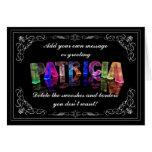 Patricia - nombre en la tarjeta de felicitación de