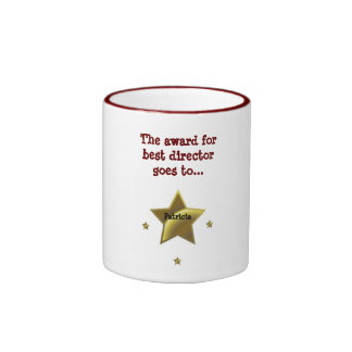 PATRICIA: The Award For Best Director Ringer Coffee Mug