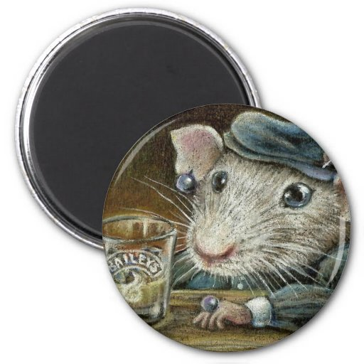 Patricia the rat 2 inch round magnet