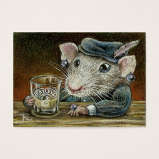Patricia the rat ACEO prints Business Card