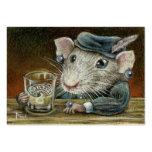 Patricia the rat ACEO prints Business Cards