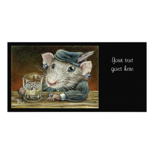 Patricia the rat picture card