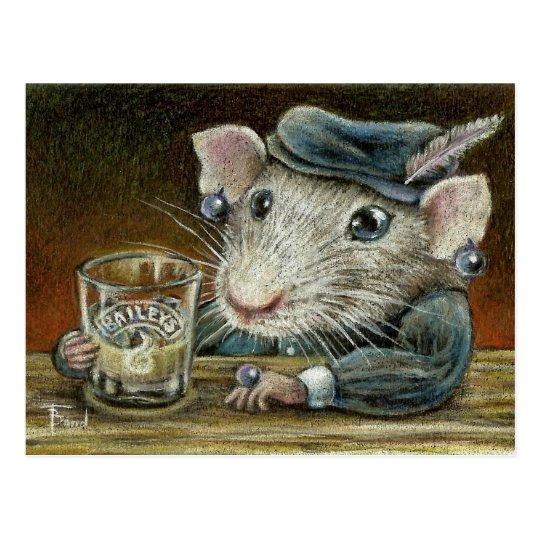 Patricia the rat postcard