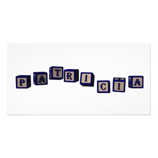 Patricia toy blocks in blue photo cards