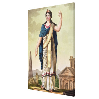 Patrician Woman, No. 26 from 'Antique Rome', engra Canvas Print