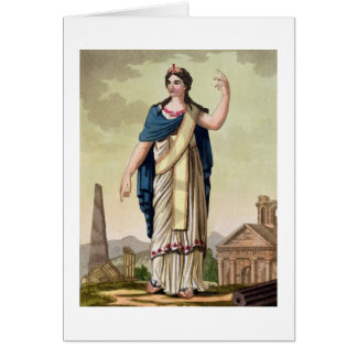 Patrician Woman, No. 26 from 'Antique Rome', engra Card