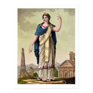 Patrician Woman, No. 26 from 'Antique Rome', engra Postcard
