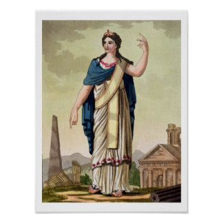 Patrician Woman, No. 26 from 'Antique Rome', engra Poster