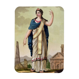 Patrician Woman, No. 26 from 'Antique Rome', engra Rectangular Photo Magnet