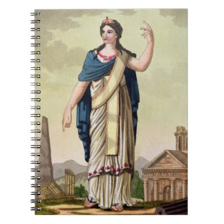 Patrician Woman, No. 26 from 'Antique Rome', engra Spiral Notebook