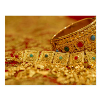 Patriciapotluck gold jewelry postcard