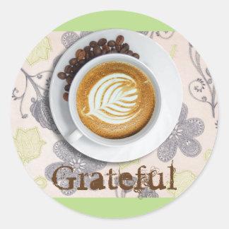 Patriciapotluck Latte Gratitude Circular Sticker