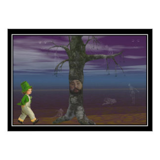 Patrick and the Tree Print Poster