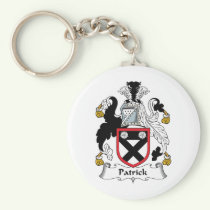 Patrick Family Crest Keychain