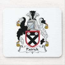Patrick Family Crest Mousepad