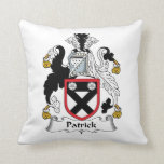 Patrick Family Crest Throw Pillow