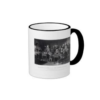 Patrick Henry addressing the Virginia Assembly Ringer Coffee Mug