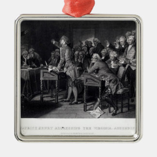 Patrick Henry addressing the Virginia Assembly Christmas Tree Ornament