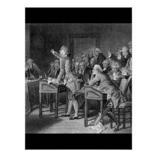 Patrick Henry Addressing the Virginia_War Image Poster